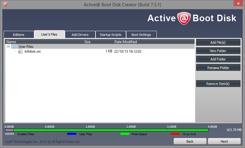 Active@ Boot Disk Creator