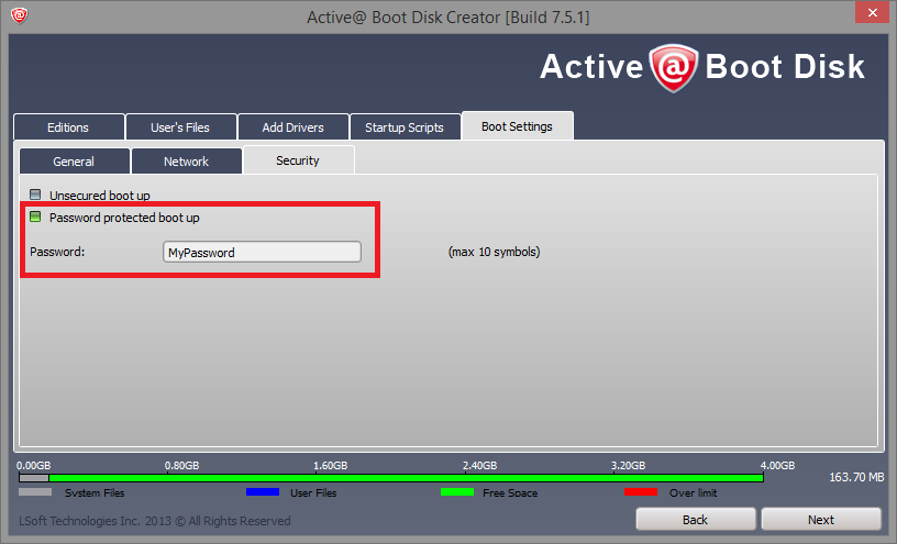 Change the option in the Network tab so that the network interface can be initialized.
