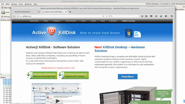 KillDisk supports and select the US DoD 5220.22-M